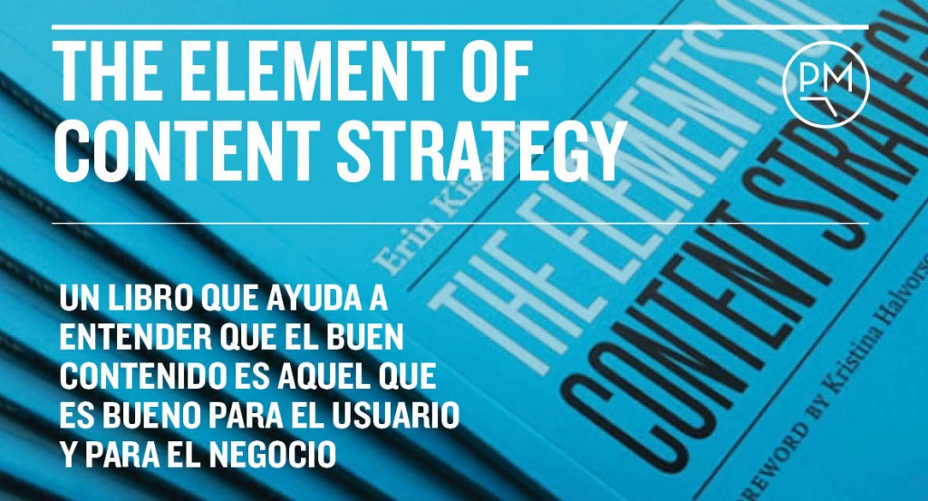 The element of content strategy